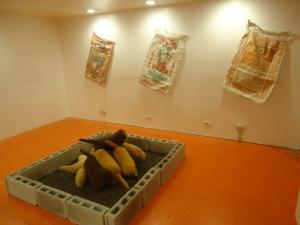 soft sculpture installation, Sandbox, Vinyl on Vinyl Gallery, 2013.
